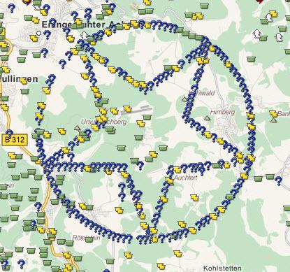 geocaching karte Geocache Karte und ihre Kunstwerke