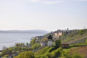 Ein Blick zu Meersburg