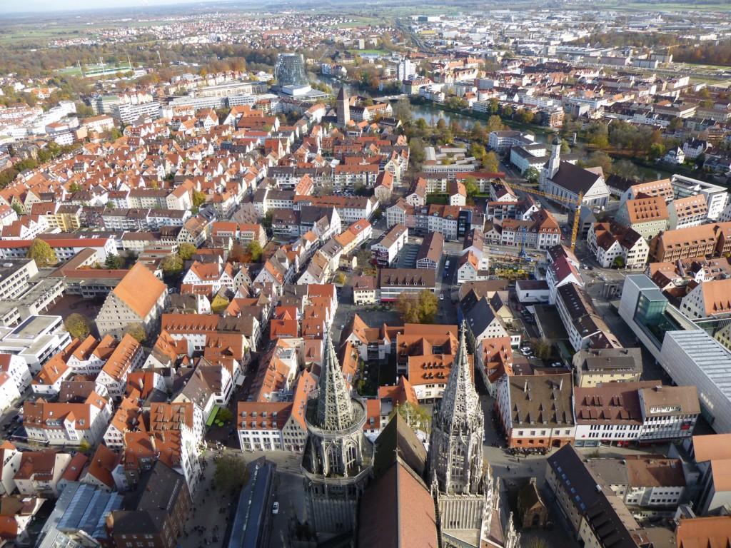 Ein Blick vom Ulmer Münster über Ulm