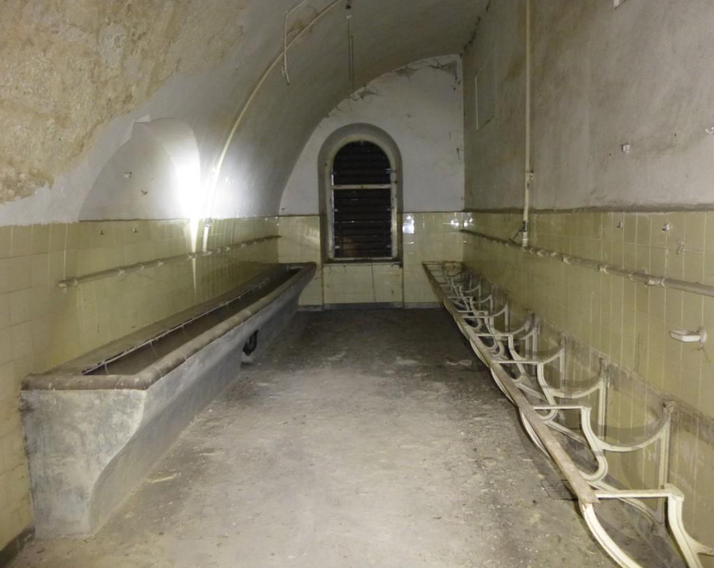 Sanitärraum in der Festung Wilhelmsburg in Ulm